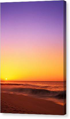 Sunset On The Beach Canvas Print by Vince Cavataio - Printscapes