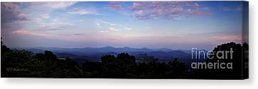 Sunset On The Blue Ridge Canvas Print