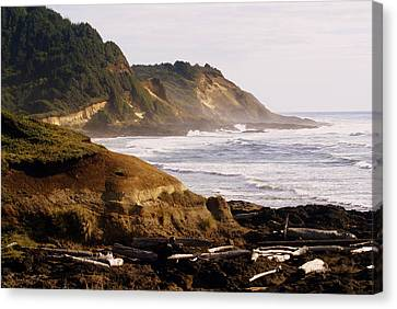 Sunset On The Coast Canvas Print by Marty Koch