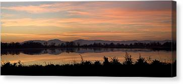 Sunset On The Coast Range Canvas Print by Charlie Osborn