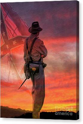 Sunset On The Confederacy  Canvas Print