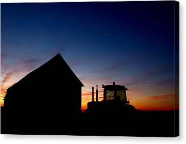 Sunset On The Farm Canvas Print by Cale Best