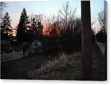 Sunset On The Great Western Trail Canvas Print by Jeanette O'Toole