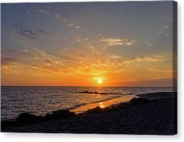 Southwest Florida Sunset Canvas Print - Sunset On The Gulf Coast Of Florida  -  Caspbch592 by Frank J Benz