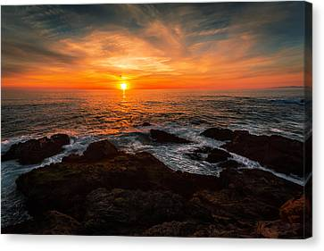 Sunset On The Horizon Canvas Print