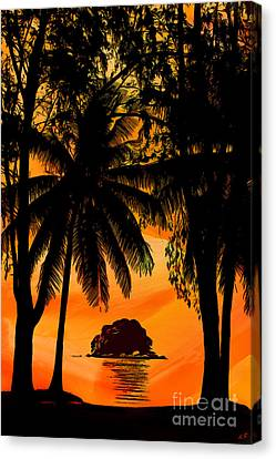 Tropical Sunset Canvas Print - Sunset On The Island Of Tioman - 01 by Sergey Lukashin