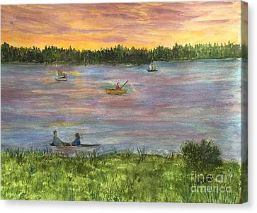 Sunset On The Merrimac River Canvas Print