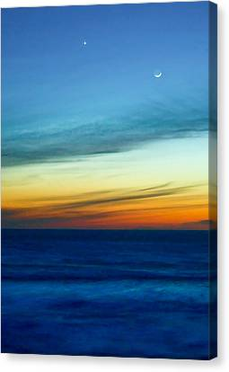 Sunset On The Pacific Canvas Print by Dale Stillman