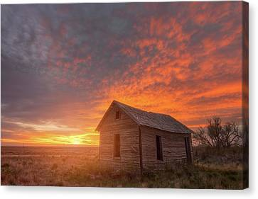 Canvas Print featuring the photograph Sunset On The Prairie  by Darren White