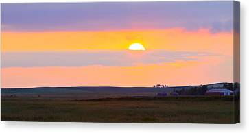 Sunset On The Reservation Canvas Print by Kate Purdy