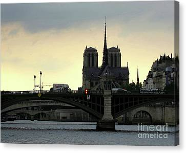 Sunset On The Seine By Taikan Canvas Print