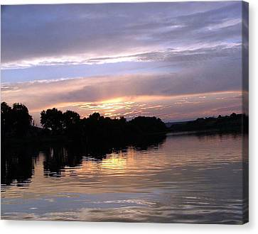 Sunset On The Snake Canvas Print