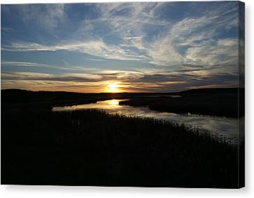 Sunset On The Totagatic Canvas Print by Ron Read