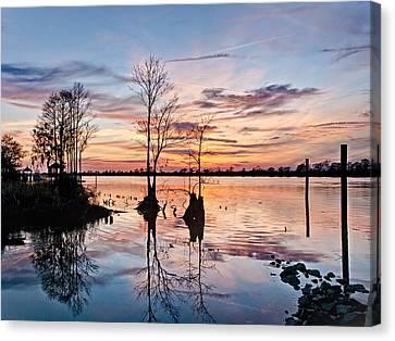 Sunset On The Waccamaw Canvas Print