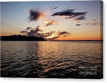 Sunset On Toldeo Bend Lake Canvas Print by Scott Pellegrin