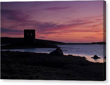 Sunset On Uist Canvas Print by Gabor Pozsgai