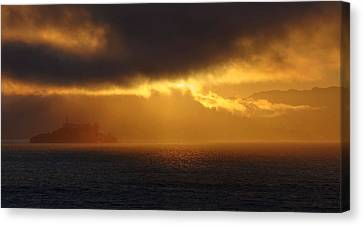 Sunset Over Alcatraz Canvas Print
