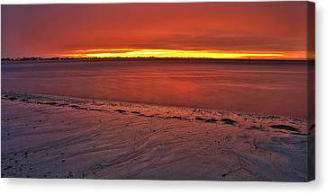 Sunset Over Anna Maria Island Canvas Print by Jim Dohms
