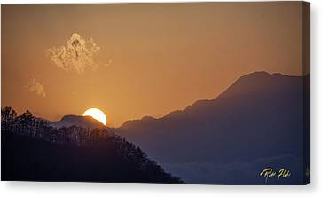 Canvas Print featuring the photograph Sunset Over Asia  by Rikk Flohr