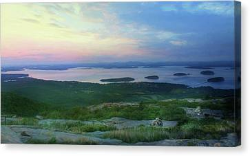 Sunset Over Bar Harbor Canvas Print