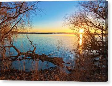 Sunset Over Barr Lake Canvas Print