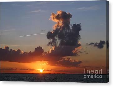Sunset Over Biscayne Bay Canvas Print by Matt Tilghman