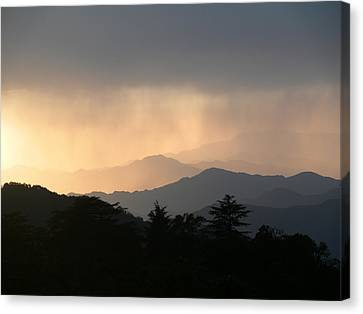 Sunset Over Chakrata Hills - 2 Canvas Print by Padamvir Singh