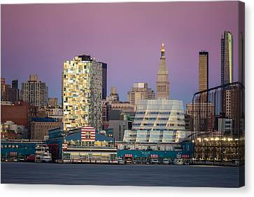 Sunset Over Chelsea Canvas Print by Eduard Moldoveanu