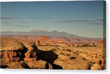 Sunset Over Elephant Canyon Canvas Print