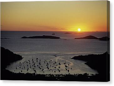 Sunset Over Great Cruz Bay Canvas Print by Don Kreuter