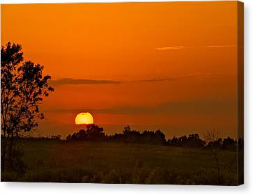 Sunset Over Horicon Marsh Canvas Print by Steve Gadomski