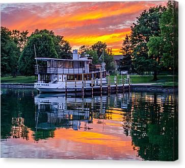 Skaneateles Lake Canvas Print - Sunset Over Judge Ben by Robert Green