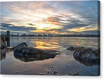 Sunset Over Lake Kralingen  Canvas Print