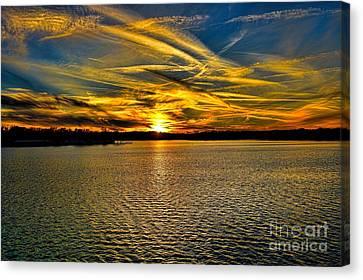 Sunset Over Lake Palestine Canvas Print