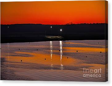 Canvas Print featuring the photograph Sunset Over Lake Texoma by Diana Mary Sharpton