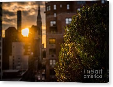 Sunset Over Manhattan New York City Canvas Print