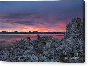 Canvas Print featuring the photograph Sunset Over Mono Lake by Sandra Bronstein
