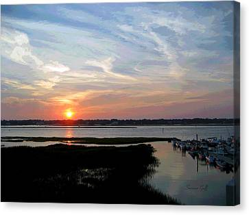 Sunset Over Murrells Inlet II Canvas Print by Suzanne Gaff
