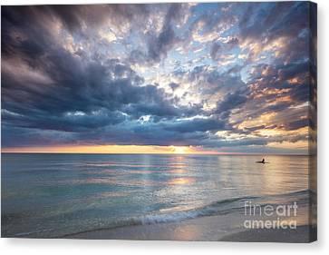 Sunset Over Naples Beach II Canvas Print by Brian Jannsen