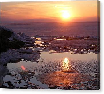Sunset Over Oneida Lake - Horizontal Canvas Print