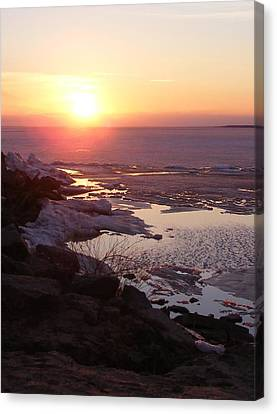 Sunset Over Oneida Lake - Vertical Canvas Print