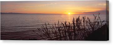 Pch Canvas Print - Sunset Over Pacific Ocean Near Santa by Panoramic Images