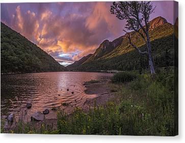 Sunset Over Profile Lake Canvas Print