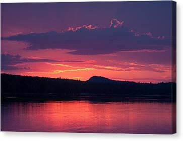 Sunset Over Sabao Canvas Print