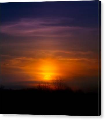 Sunset Over Scuppernong Springs Canvas Print by Scott Norris