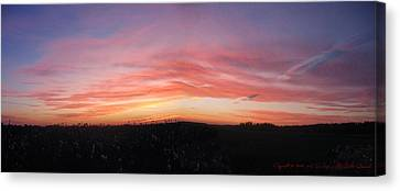 Canvas Print featuring the photograph Sunset Over Sw Ontario P1 by Maciek Froncisz