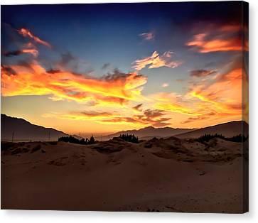 Sunset Over The Desert Canvas Print