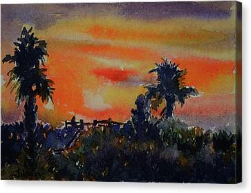 Sunset Over The Dunes 7-10-17 Canvas Print