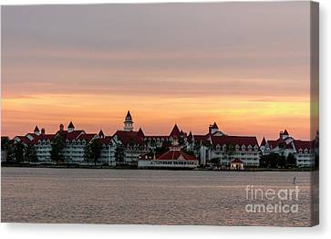Sunset Over The Grand Floridian Canvas Print