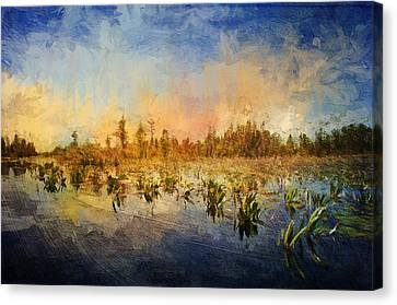 Sunset Over The Okefenokee Canvas Print